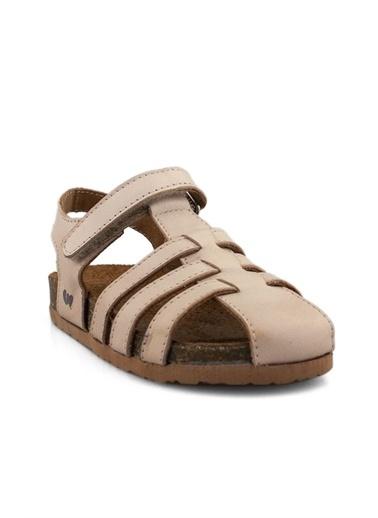 Cicibebe Deri Kız Çocuk Sandalet Pudra